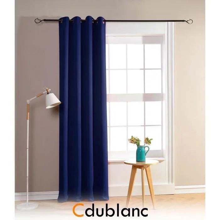 dublanc rideau occultant 140x260cm bleu nuit