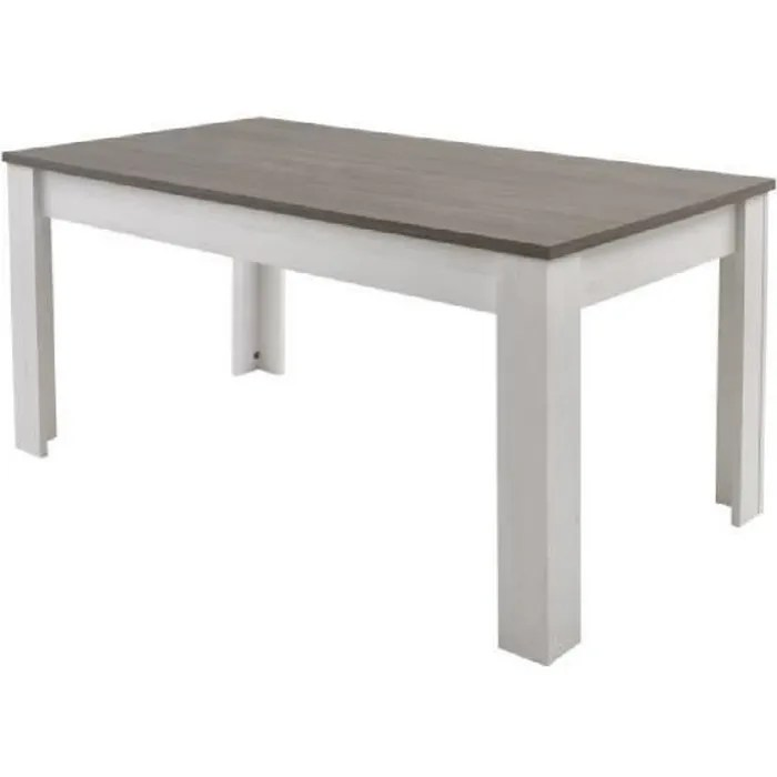 marquis table a manger de 6 a 8 personnes style contemporain decor pin et decor chene l 170 x l 90 cm