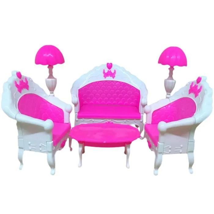 e ting mini mobilier maison salon table et chaise pour poupees barbie jouet fille dollhouse