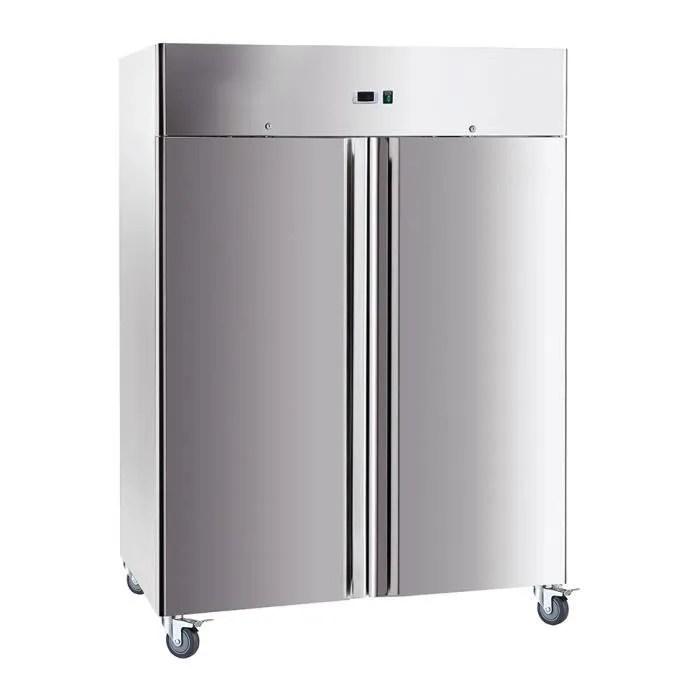 armoire froide positive 1400 l 2 portes inox