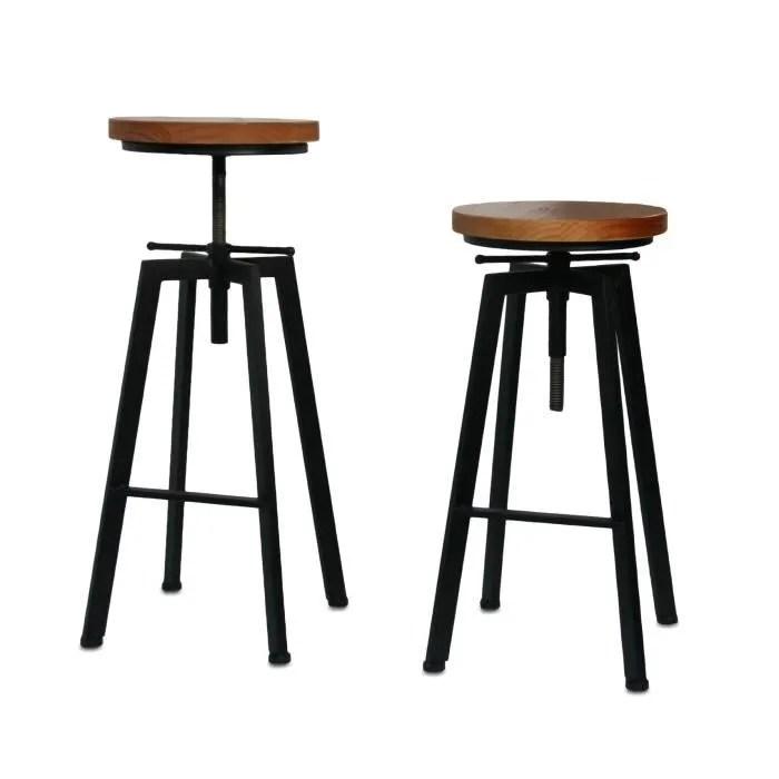 Tabouret De Bar Ou De Peintre Sur Vis Design Luxe Loft