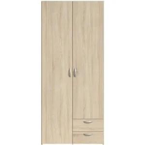 armoire de chambre varia armoire de chambre 2 portes decor chene l 81
