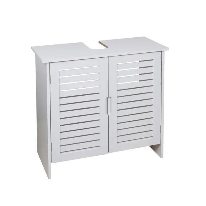 linda meuble sous lavabo l 60 cm blanc mat