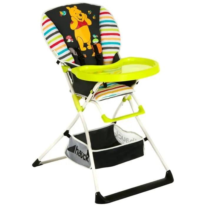 DISNEY Chaise Haute Mac Baby Winnie Noir Motif Multicolore