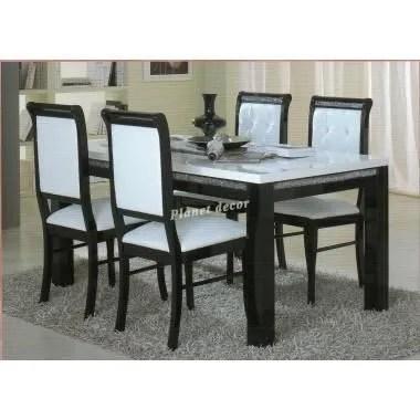 Table Salle Manger PRESTIGE 160 Cm Noirblanc Achat