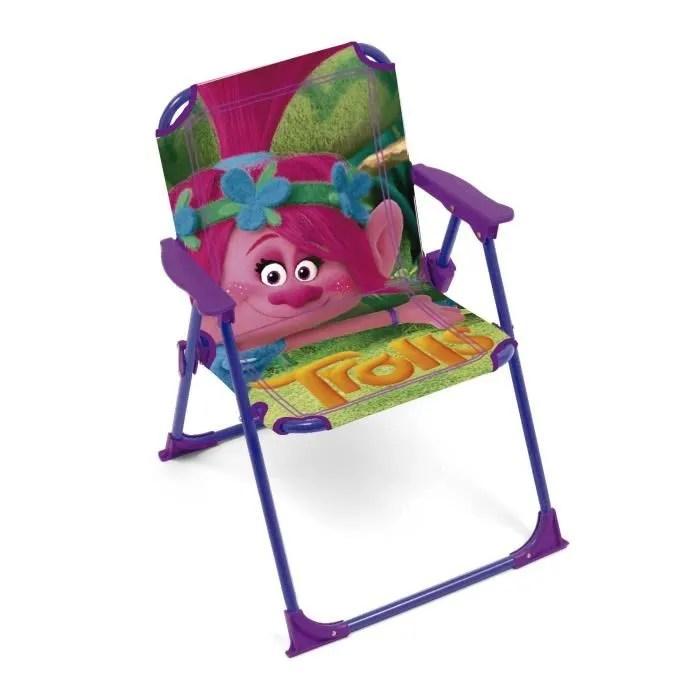 trolls chaise pliante pour enfant
