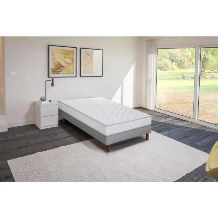 ensemble matelas mousse polyurethane sommier tapissier 90 x 190 confort ferme epaisseur 16 cm finlandek vahto