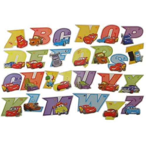Stickers Alphabet Cars Achat Vente Stickers Soldes