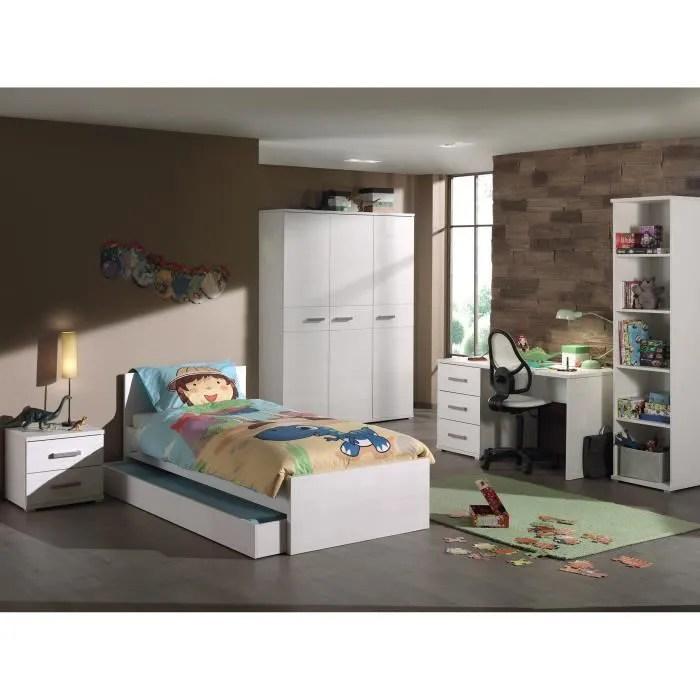 sofie ensemble meubles de chambre enfant 6 elements blanc
