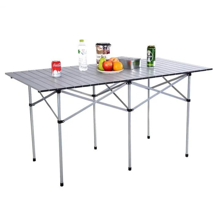 Table De Camping En Aluminium De Jardin Pliable Portable