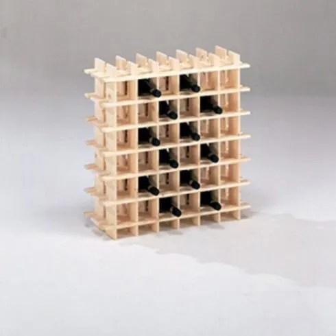 meuble range bouteille rangement 36 bouteilles en bois d epicea brut