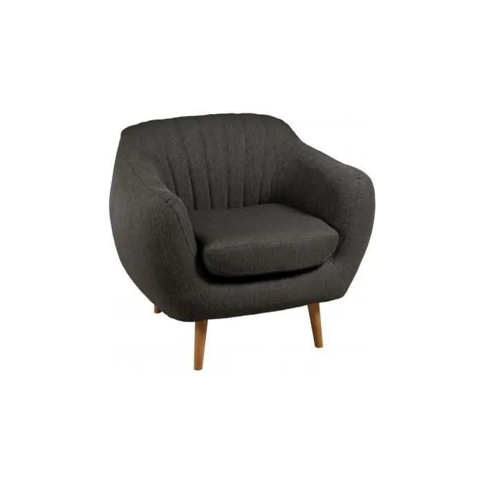 fauteuil scandinave tissu gris anthracite