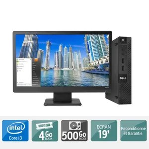 unite centrale ecran ordinateur de bureau hp prodesk 400 g1 pentium dua