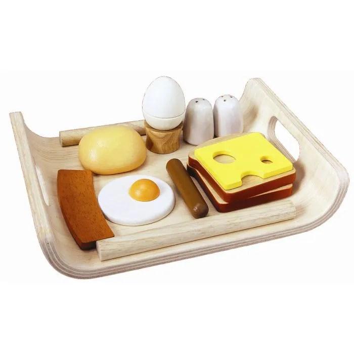 dinette cuisine plantoys jouets en bois plateau petit dejeuner