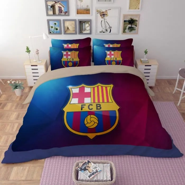 Parure De Lit Football Fc Barcelona 200230 Cm 4 Pieces