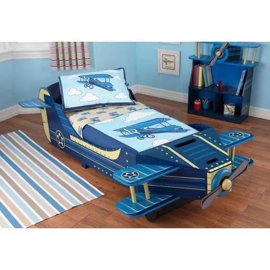 ensemble literie lit pour enfant en forme d avion a helices