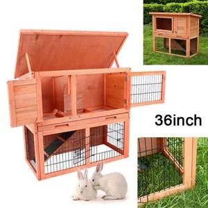36 habitat cage de lapin porc guinee pet animaux de compagnie grand double huche