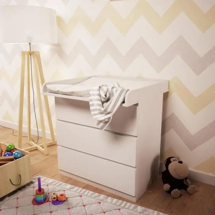Plan à Langer Polini Kids Pour Commode Ikea Malm Couleur