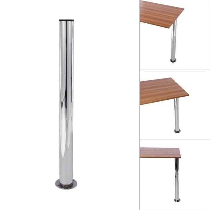 pied de meuble chrome pied de table telescopique support bureau d