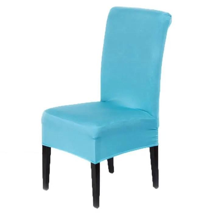 hicollie 2pcs bleu taille s 40 50cm housse chaise spandex polyester lycra fini tabouret fauteuil extensible