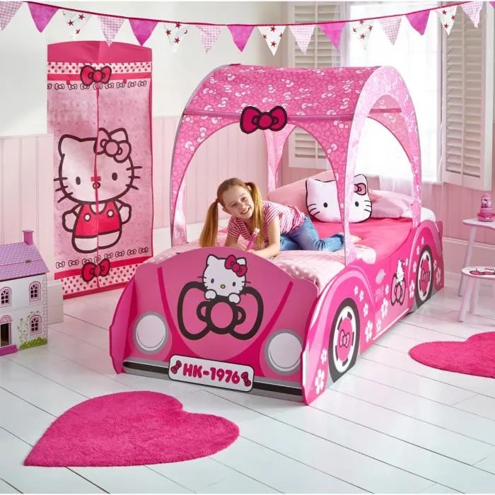 Grand Lit Voiture Hello Kitty Achat Vente Lit Complet
