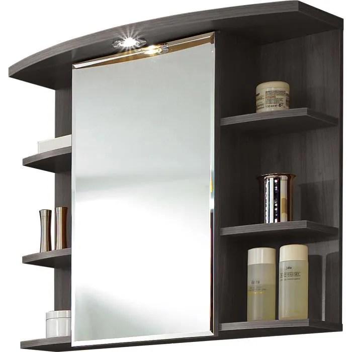 Armoire Miroir Avec Lumire Coloris Frne Carbo Achat