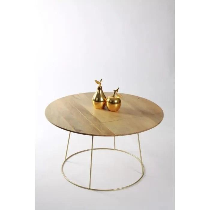 table basse ronde style art deco la parisienne grand modele meuble house marron