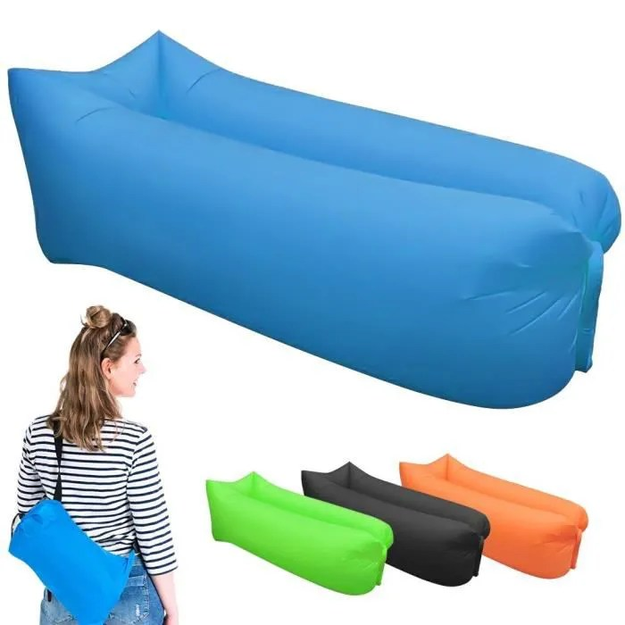 air canape gonflable chaise longue de plage portable canape matelas gonflable impermeable pour les signaux lazy camping plage
