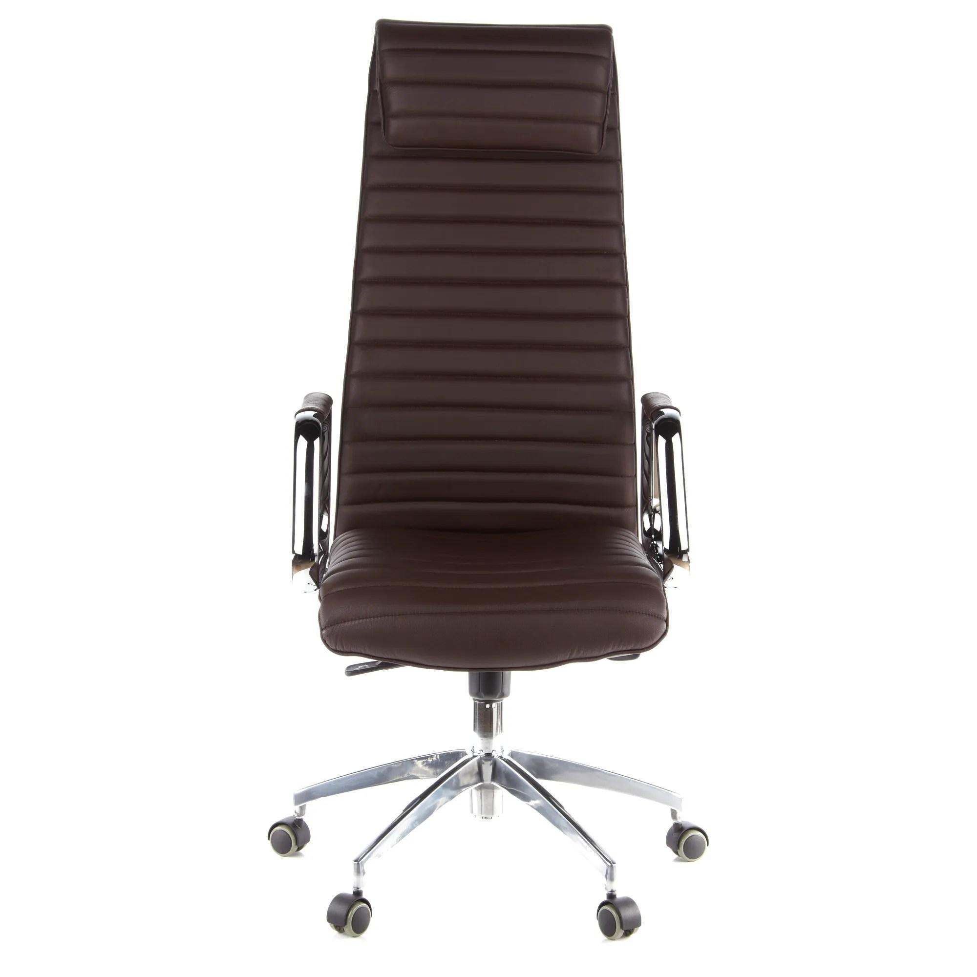 siege de bureau fauteuil de direction aspera 20 cuir nappa marron