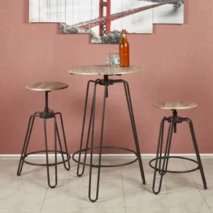 table de cuisine windsor ensemble mange debout et tabourets de 2 a