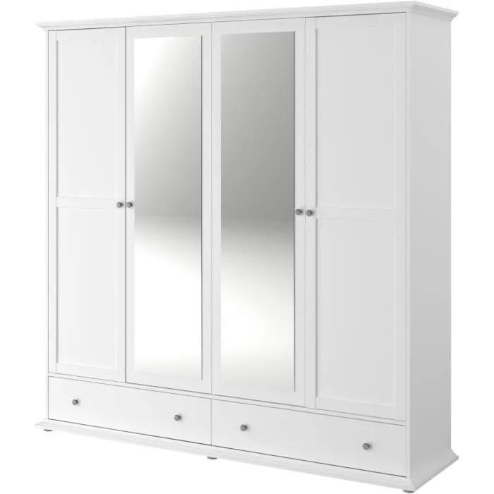 armoire 4 portes pas cher bright