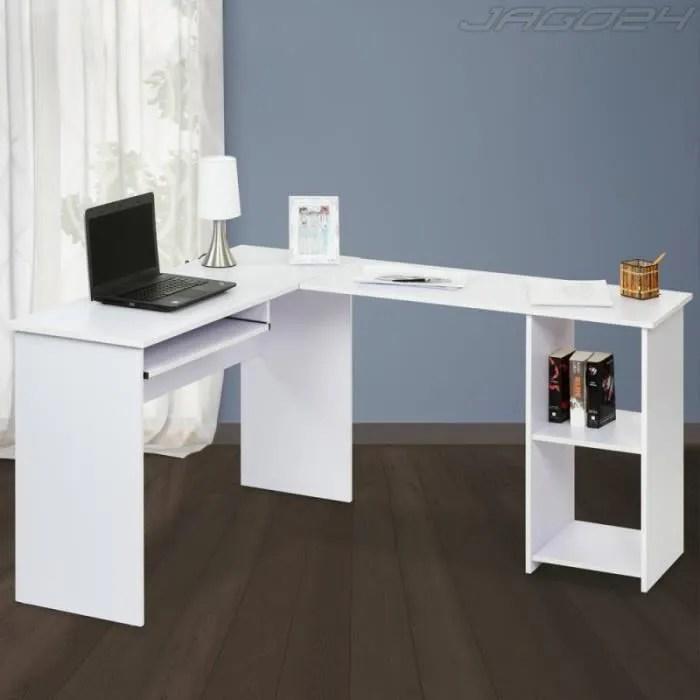 Bureau Dangle Table Dordinateur Blanc Achat Vente