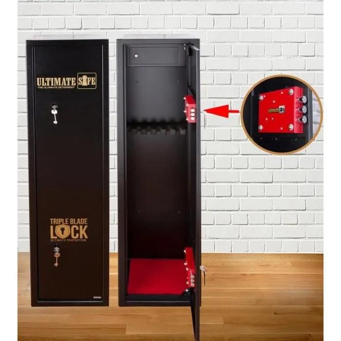 armoire a fusils ultimate safe coffre fort pour armes a feu pour 7 carabines armoire avec serrure triple blade lock