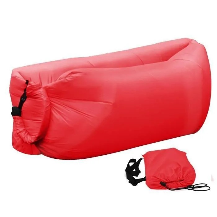 Hamac Gonflable   Sofa Gonflable Decathlon   Apsip com Rouge portable en plein air gonflable canap sofa gonflable lounger air sac  housse pour barbecue