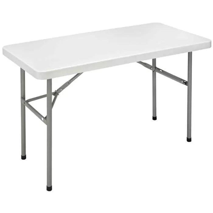 table pliante ycz 122 en plastique gris clair