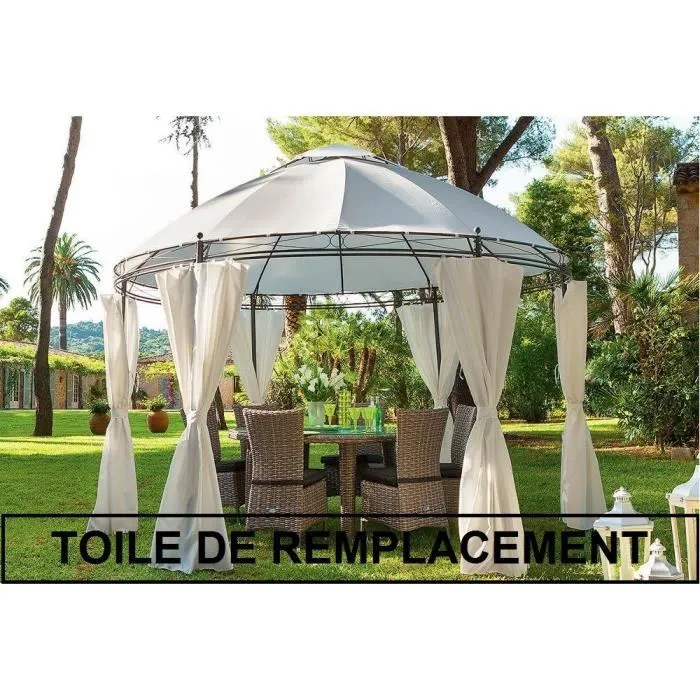 TOILE DE REMPLACEMENT POUR TONNELLE RONDE LISBOA Toile