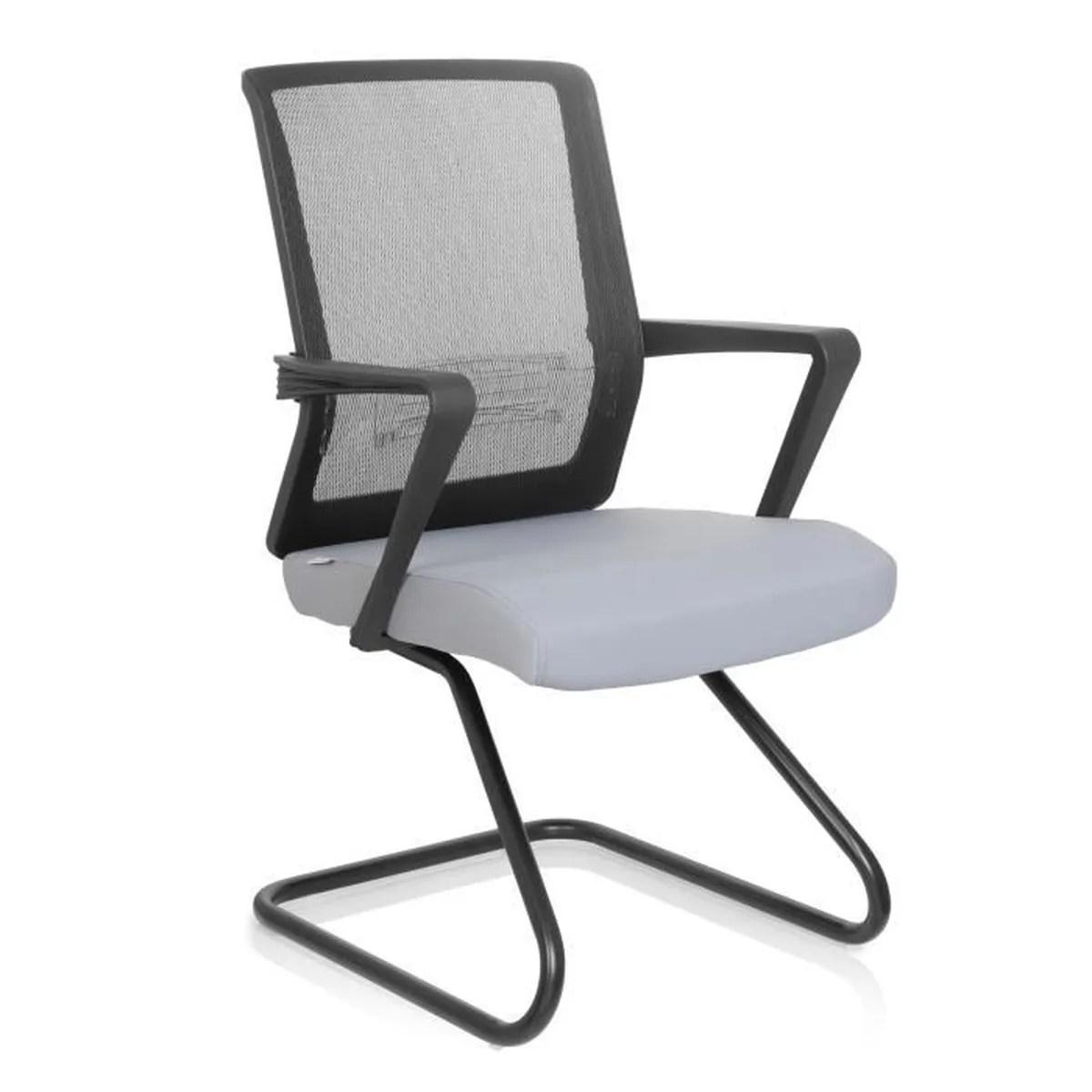 chaise visiteur chaise de conference chaise carlton v tissu noir gris lot de 2 hjh office