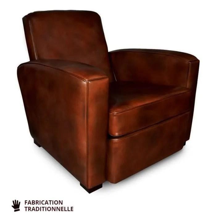 fauteuil club marron fonce oxford l 85 x l 92