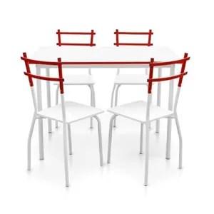 Table Et Chaise De Cuisine Rouge Achat Vente Pas Cher
