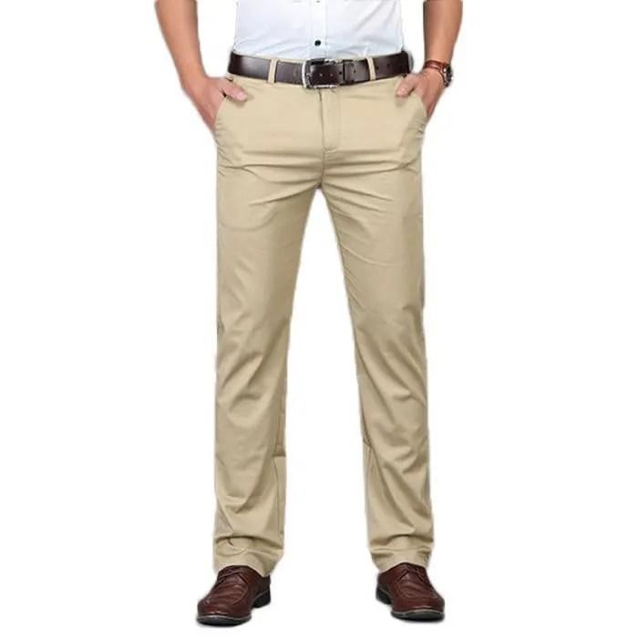 pantalon pantalon chino homme coupe straight style business