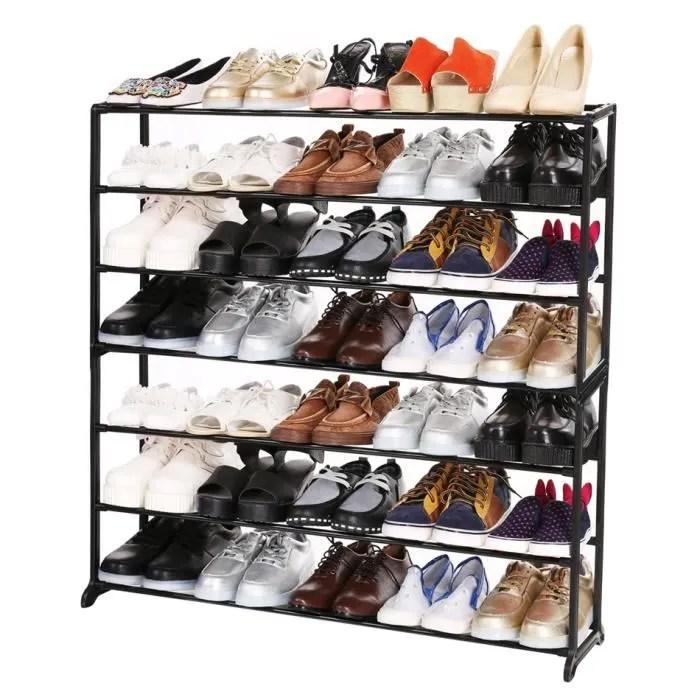 etagere chaussures organisateur de chaussures rangement rack support portable 7 niveau