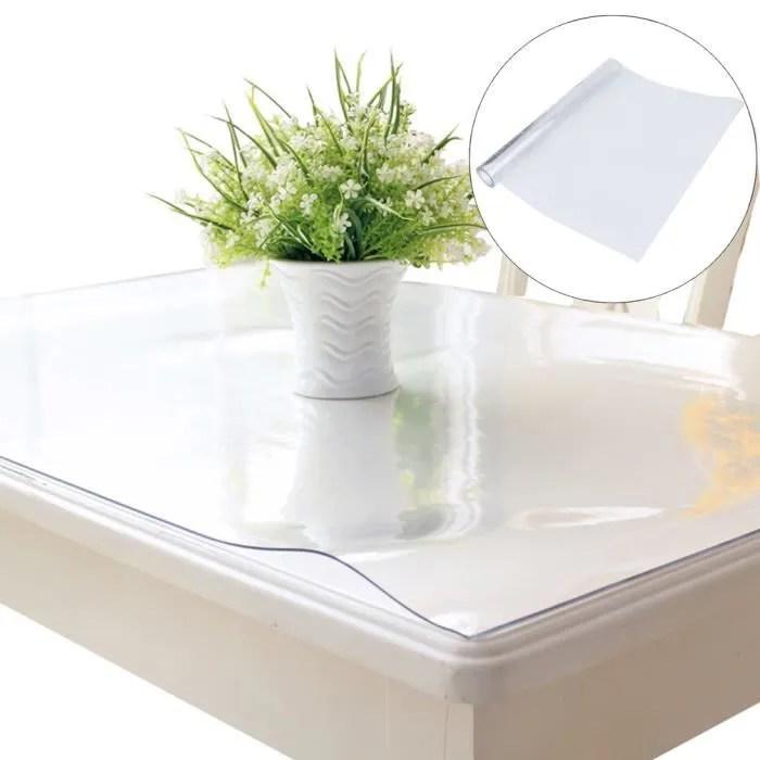 2mm nappe pvc transparente epais anti tache protection de table 150 100cm