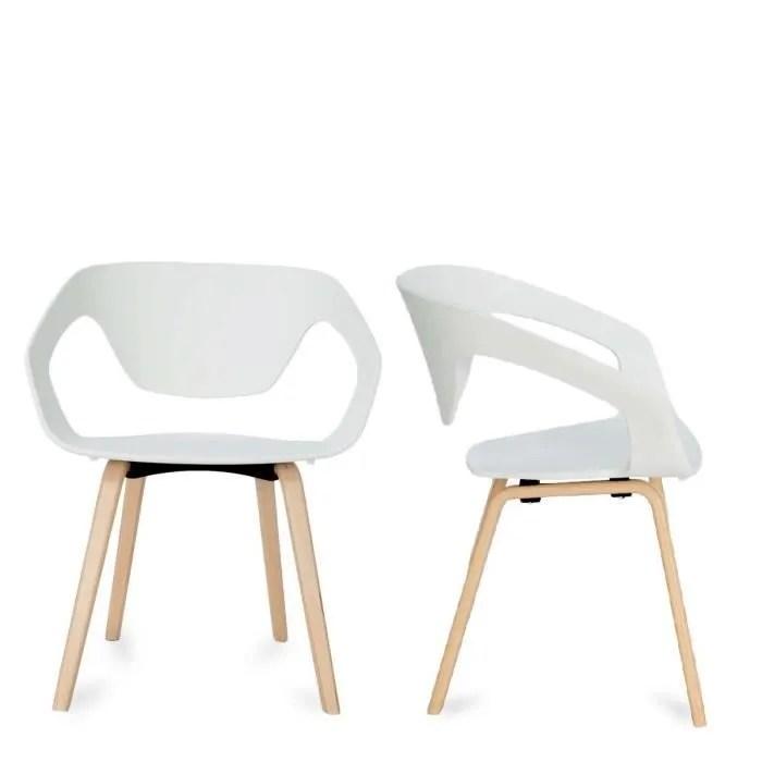 Lot De 2 Chaises Design Scandinave Danwood Couleur Blanc