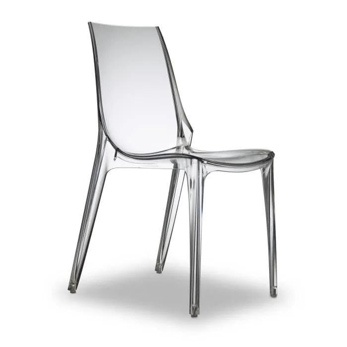 chaises design transparentes vanity lot de 6