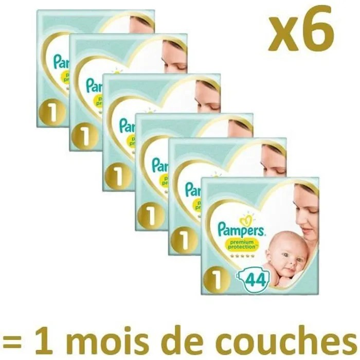 prix couche pampers taille 1 leclerc