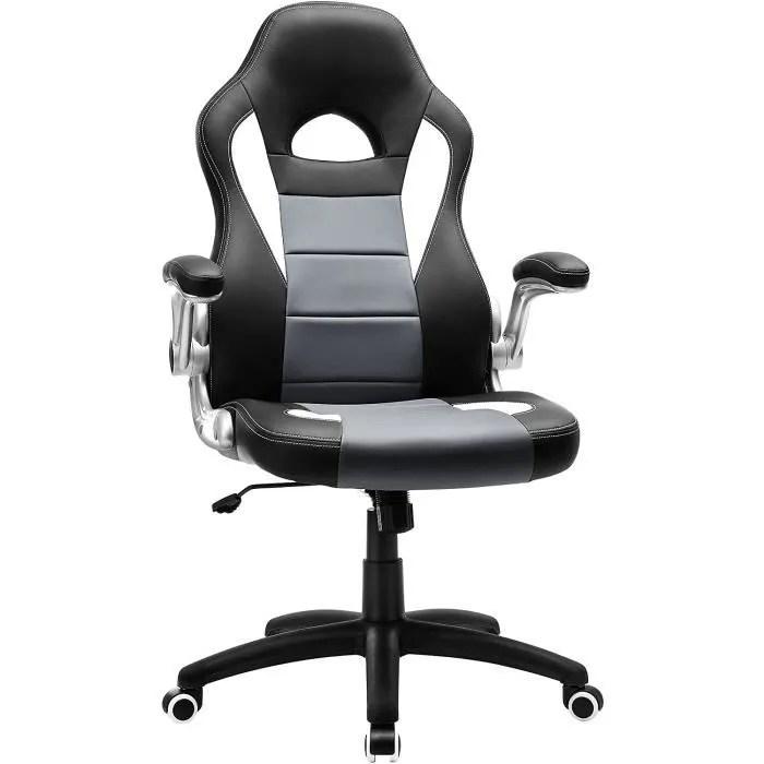 songmics chaise de bureau confortable fauteuil de bureau siege pu hauteur reglable accoudoirs reglables obg28g