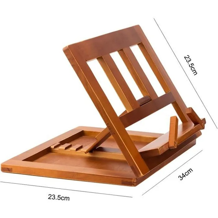 halovie support pour livre tablette book holder lutrin de lecture pupitre de lecture reglable et pliable en bois 34x23 5x2 8cm