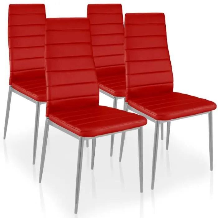 chaise lot de 4 chaises stratus rouge
