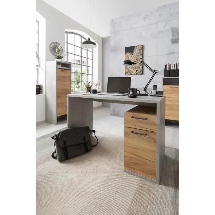 bureau avec caisson 1 porte 1 tiroir marley