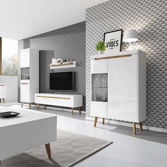 meuble tv mural ensemble salon meubles salon living blanc ma